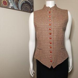 Vintage J. McLaughlin Houndstooth Vest 12